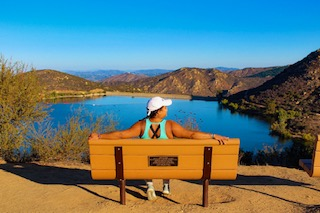 Watching over Lake Poway in San Diego, California